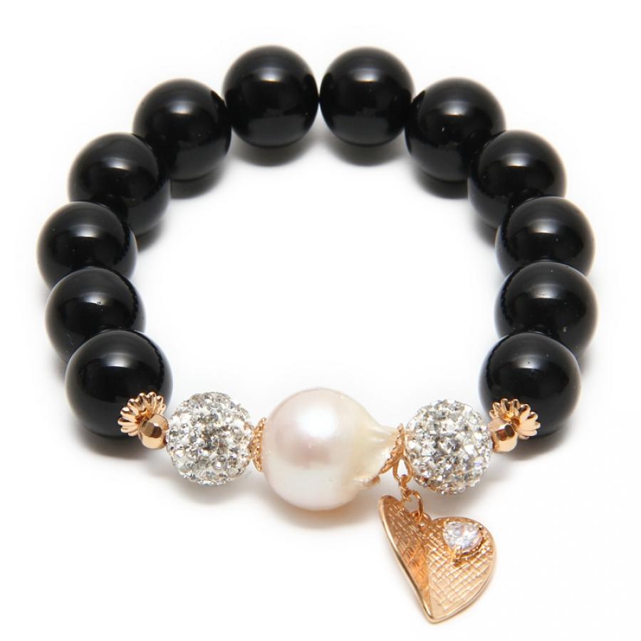 baroque bracelet black agate bangle and bracelet