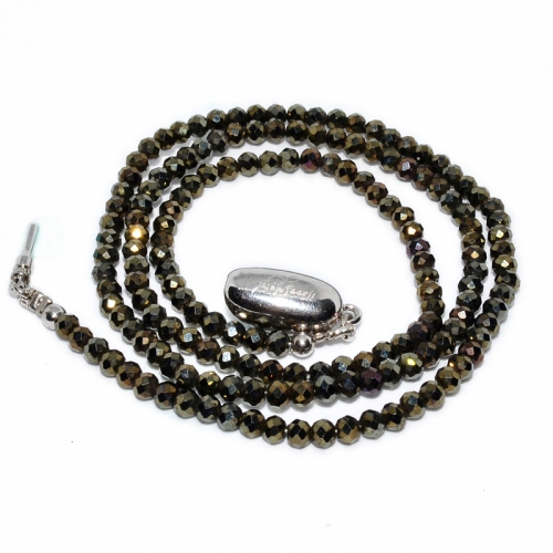 Gold Spinel Mystic Beaded 1 Strand Necklace