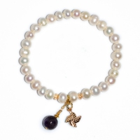 Fresh Water Pearl Windmill Stone Dangling Bracelet