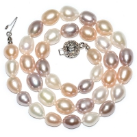 Fresh Water Pearl Mix 7-7.5MM With Flower Ball Hook