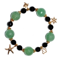 Mix Gemstone Charm Bracelet