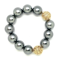 Shell Pearl With Turkish Ball Bracelet