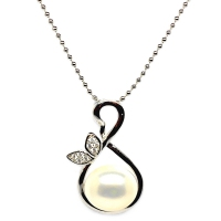 Fresh Water Pearl Elegant Pendant With Chain