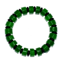 Jade Treated With Agate Bracelet