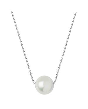 Fresh Water Pearl Single In 925 Silver Chain-White