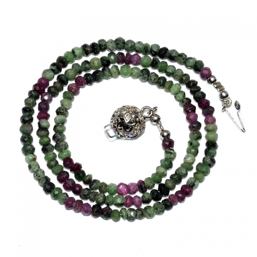 100% natural Ruby-Zoisite Necklace