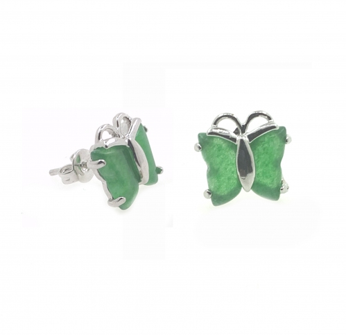 Green Quartz Butterfly Earring