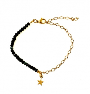 Natural Black Onyx Assorted Charms Bracelet |MCO Shopping