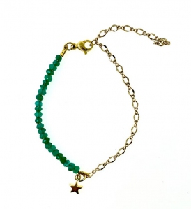 Natural Green Onyx Assorted Charms Bracelet |MCO Shopping