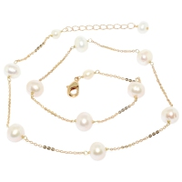 Fresh Water Pearl Links Chain Necklace