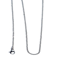 "Stainless Steel Cable 16"" Chain Necklace"
