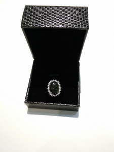 Black Onyx 925 Adjustable Ring