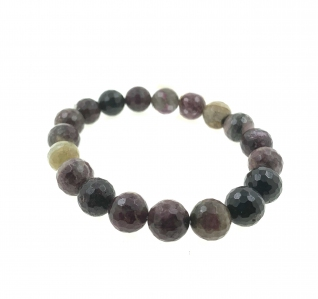 Tourmaline 10mm Round Faceted Bracelet|MCO Shopping