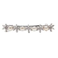 Fresh Water Pearl Flower Barrette