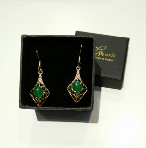 Green Quartz CZ Earring