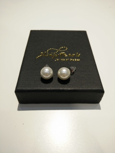 Pearl Shell 10mm 925 Earring-White