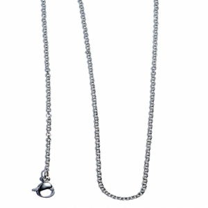 "Stainless Steel Cable 18"" Chain Necklace"